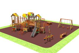 макет новой детской площадки